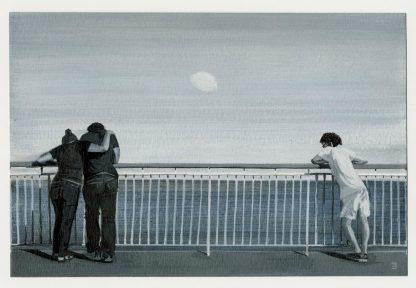 Ιουλία Βεντίκου, 30 Φεγγάρια, 2012, Μελάνι σε χαρτί ακουαρέλας