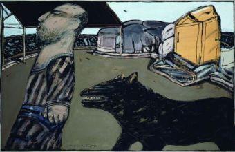 Νίκος Χουλιαράς, Ο ζωγράφος που φεύγει, 1980